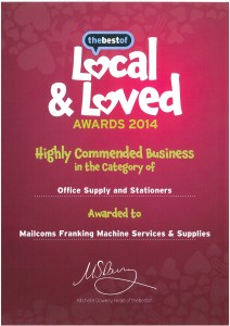 Mailcoms Local and Loved award 2014