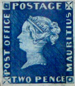 Two Pence Blue Stamp