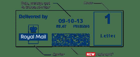 Mailmark Franking Machine Impression Example