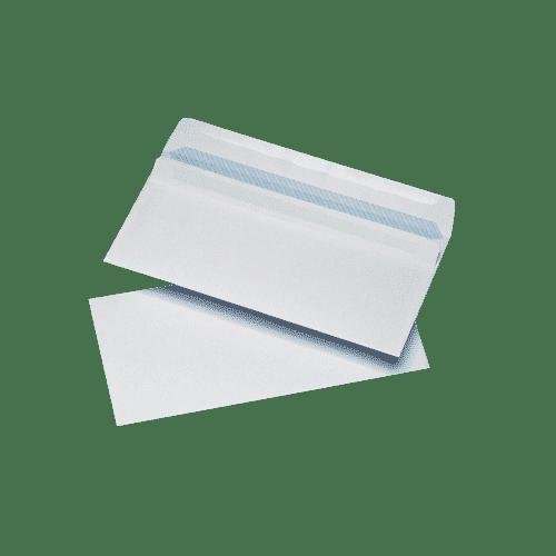 1000 White DL Windowed (35mm x 90mm) Self Seal Envelopes (110mm x 220mm)