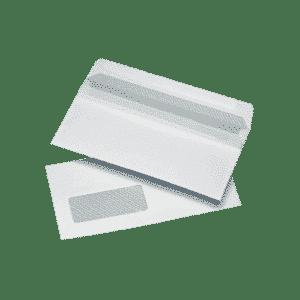 1000 White DL Windowed (35mm x 90mm) Self Seal Envelopes (121mm x 235mm)