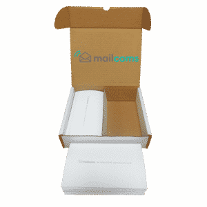 1000 Mailcoms Mailbase+ Long (175mm) Franking Labels