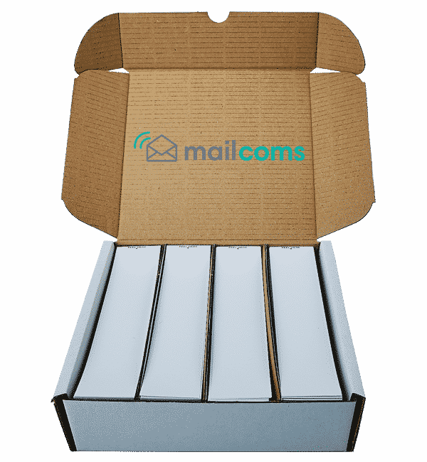 1000 Mailcoms Mailhub Franking Labels – Long Single