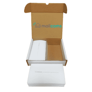 1000 Mailcoms Mailsend+ Long (175mm) Franking Labels