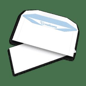 1000 White DL+ Gummed Plain (Non Window) FP Mailing Folding Inserting Machine Envelopes (114mm x 235mm)
