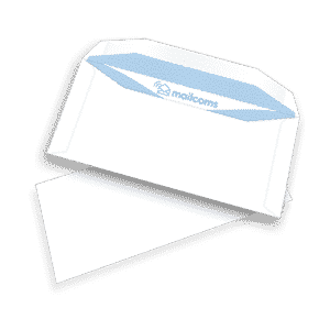1000 White DL+ Gummed Plain (Non Window) Pitney Bowes Folding Inserting Machine Envelopes (114mm x 235mm)