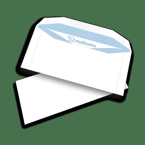 1000 White DL+ Gummed Plain (Non Window) Pitney Bowes Folding Inserting Machine Envelopes (114mm x 235mm)