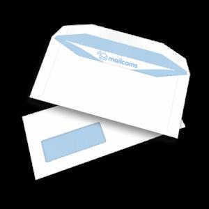 1000 White DL+ Gummed Plain Windowed (45mm x 90mm Window) Envelopes (114mm x 235mm)