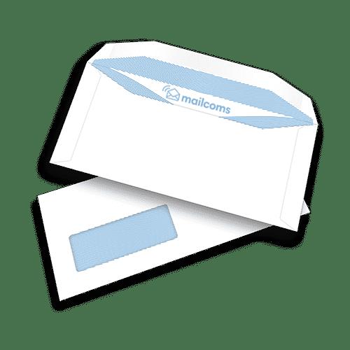 1000 White DL+ Gummed Plain Windowed (45mm x 90mm Window) Folding Inserting Machine Envelopes (114mm x 235mm)