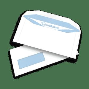 1000 White DL+ Gummed Plain Windowed (45mm x 90mm Window) Pitney Bowes Folding Inserting Machine Envelopes (114mm x 235mm)