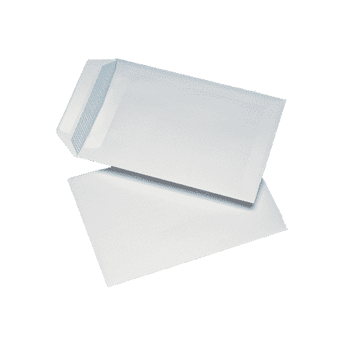 250 White C4 Non Windowed Self Seal Envelopes (324mm x 229mm)