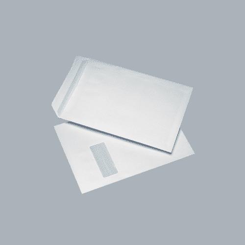 250 White C4 Windowed (40mm x 105mm) Self Seal Envelopes (324mm x 229mm)