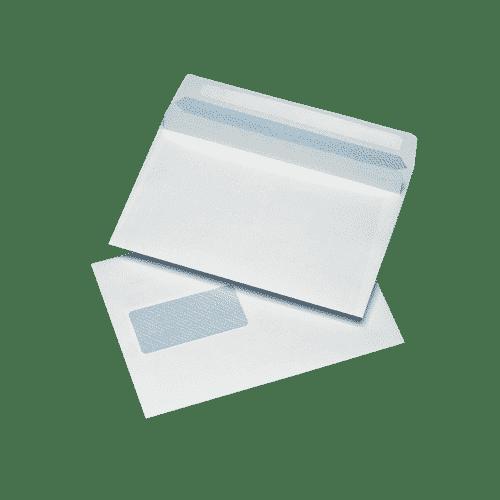 500 White C5 Windowed (45mm x 90mm) Self Seal Envelopes (162mm x 229mm)