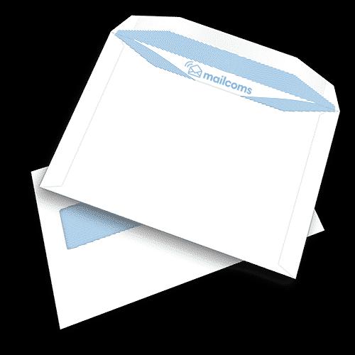 500 White C5+ Gummed Plain High Windowed (45mm x 90mm Window) Envelopes (162mm x 235mm)