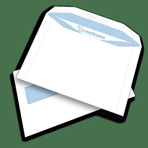 500 White C5+ Gummed Plain Windowed (45mm x 90mm Window) Folding Inserting Machine Envelopes (162mm x 235mm)
