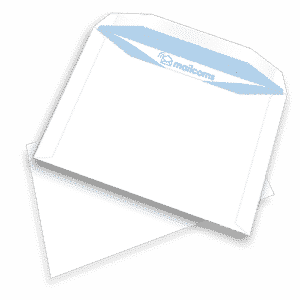 500 White C5+ Gummed Plain (Non Window) Folding Inserting Machine Envelopes (162mm x 235mm)