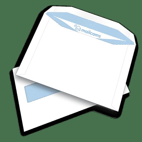500 White C5+ Gummed Plain High Windowed (45mm x 90mm Window) Folding Inserting Machine Envelopes (162mm x 235mm)