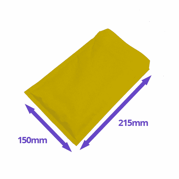 Gold Arofol Envelopes - Size 3 - 150x215mm - Pack Of 100