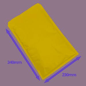 Gold Arofol Envelopes - Size 7 - 230x340mm - Pack Of 100