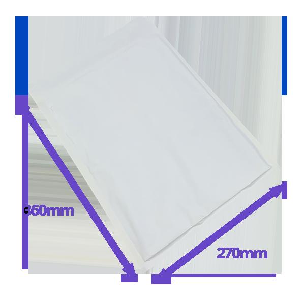 White Arofol Envelopes - Size 8 - 270x360mm - Pack Of 100