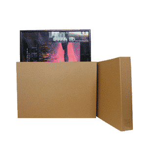 Brown Medium Telescopic Picture Frame Boxes - 700x90x500-950mm