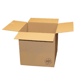 Brown Single Wall Cardboard Boxes - 381x280x280