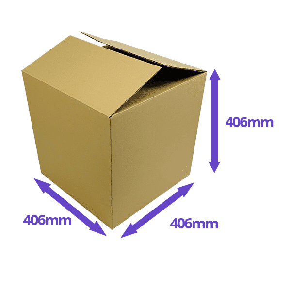 Single Wall Cardboard Boxes - 406x406x406mm - Pack Of 10, 25 & 50