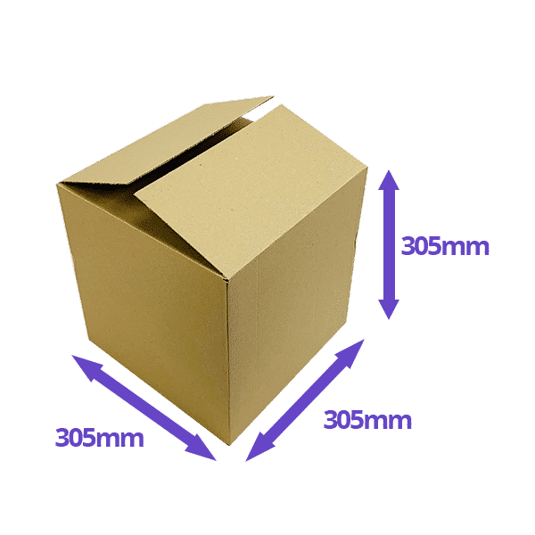 Single Wall Cardboard Boxes - 305x305x305mm - Pack Of 10, 25 & 50