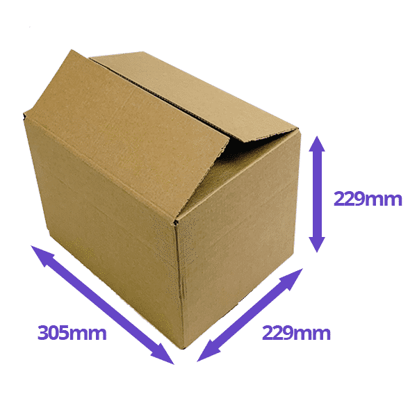 Single Wall Cardboard Boxes - 305x229x229mm - Pack Of 10, 25 & 50