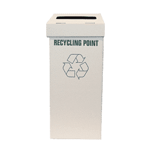 White Office Recycling Bin - 313x303x742mm