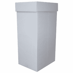 White Office Recycling Bin - 381x305x760mm - Pack Of 1