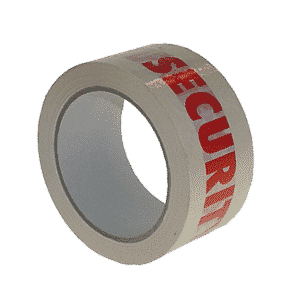 White & Red Security Packing Tape - 48mmx66m