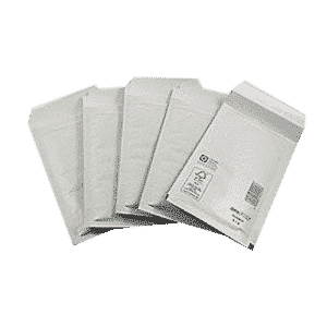 White Standard Bubble Lined Mailers - 95x165mm