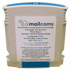 Mailcoms Connect+ 1000 / 2000 Compatible Cyan Standard Ink Cartridge