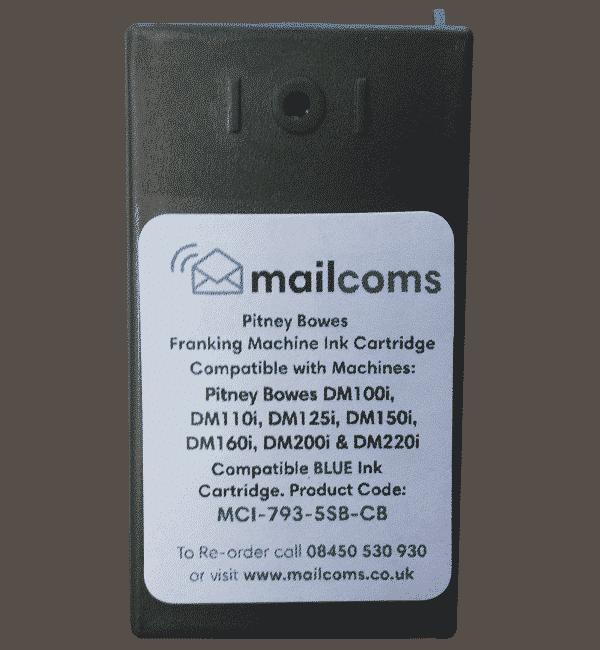 Pitney Bowes DM100 / SendPro Series Ink Cartridge – Compatible Blue
