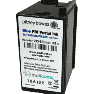 Pitney Bowes DM100 / SendPro Series Ink Cartridge – Original Blue