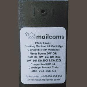 Pitney Bowes DM100i, DM125i, DM150i & DM200i Compatible Blue Ink Cartridge