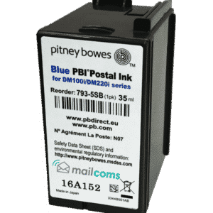 Pitney Bowes DM100i / DM125i / DM150i / DM200i Original Blue Ink Cartridge