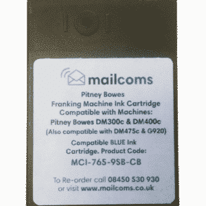Pitney Bowes DM300c, DM300M, DM400c, DM400M & DM475c Compatible Blue Ink Cartridge