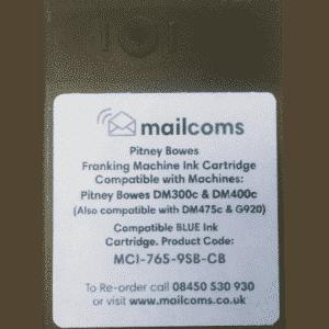Pitney Bowes DM300c, DM300M, DM400c, DM400M & DM475c Compatible Blue Ink Cartridge