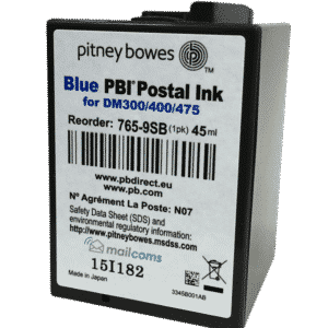 Pitney Bowes DM300c Ink Cartridge, DM400c Ink Cartridge & DM475c Ink Cartridge – Original Blue