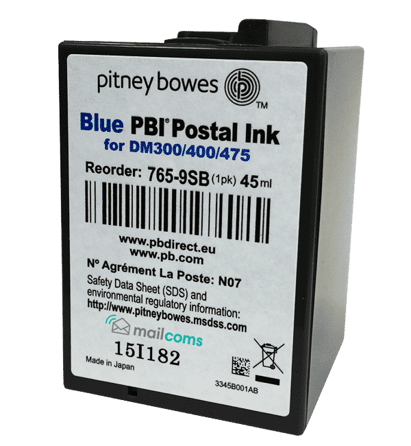 Pitney Bowes DM300M Ink Cartridge & DM400M Ink Cartridge – Original Blue