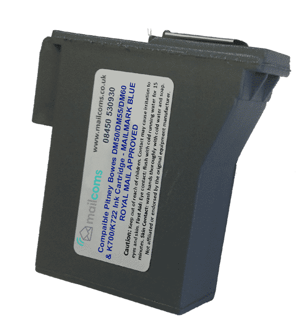Pitney Bowes DM60 Ink Cartridge & K722 Ink Cartridge – Compatible Blue