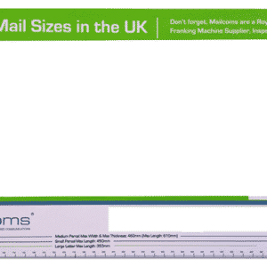 Royal Mail Size Guide Ruler – Includes Small / Medium Parcel Sizes