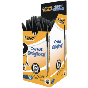 Bic Cristal Ballpoint Pen Medium Black (Pack of 50)