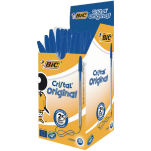 Bic Cristal Ballpoint Pen Medium Blue (Pack of 50)
