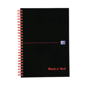 Black n' Red Smart Ruled Wirebound Hardback Notebook 140 Pages A5+ (Pack of 5)