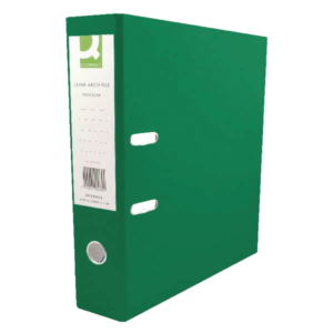 Q-Connect 70mm Lever Arch File Polypropylene A4 Green (Pack of 10)