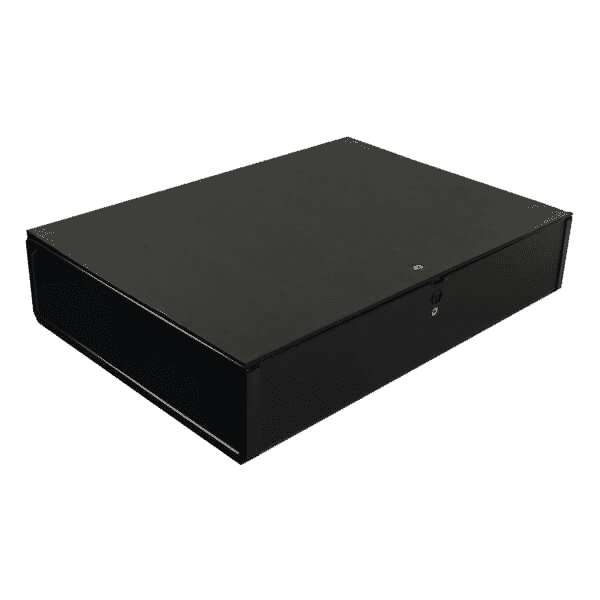 Q-Connect 75mm Box File Foolscap Black (Pack of 5)