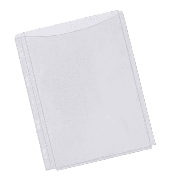 Q-Connect Expanding Punched Pocket Full Length Front A4 (Pack of 5)